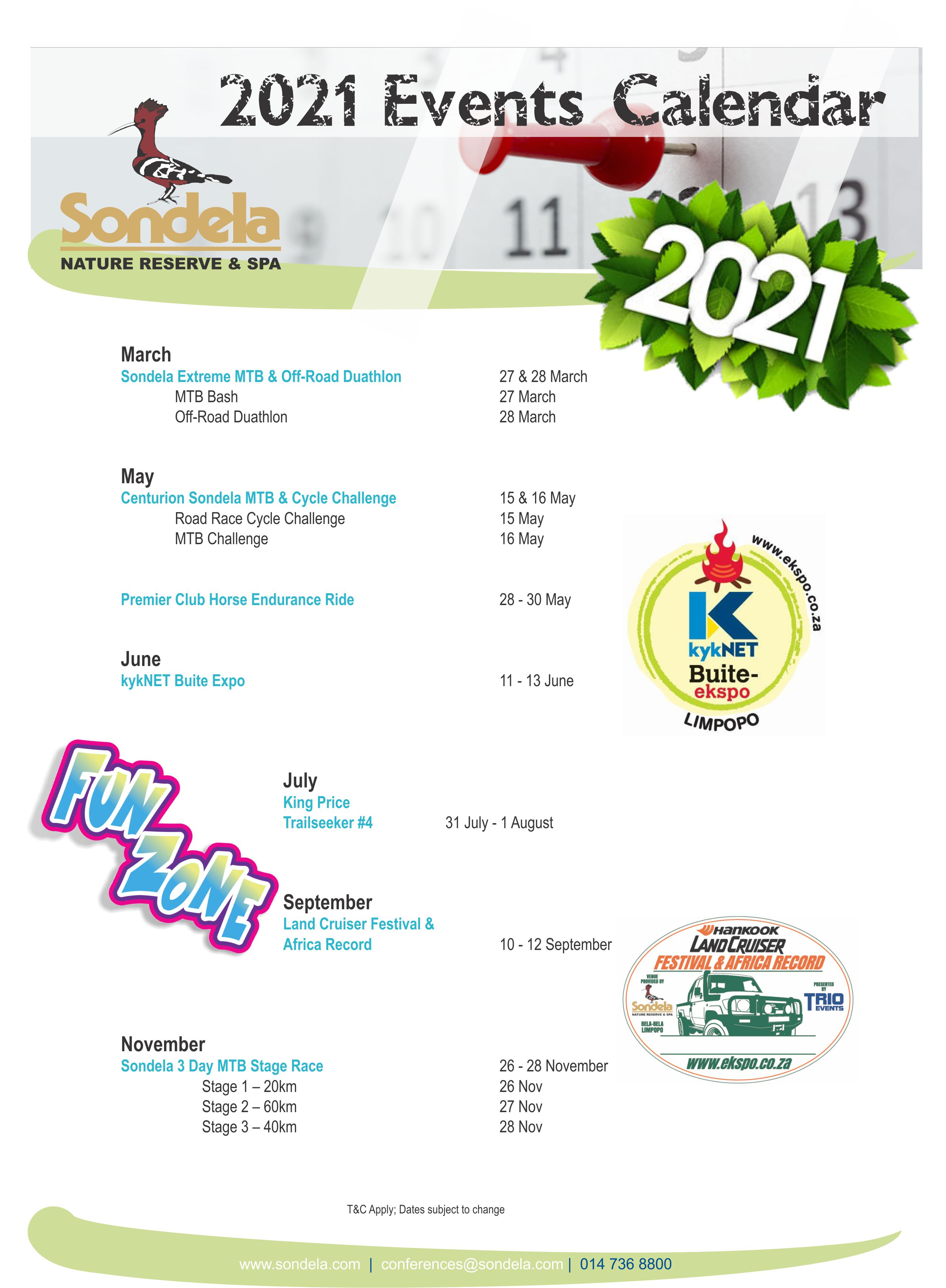 Career-Studies: Events Calendar 2021
